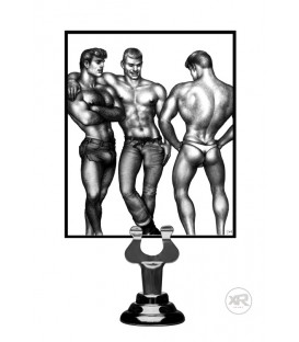 TOM OF FINLAND SET 3 ANILLOS SILICONA NEGRO
