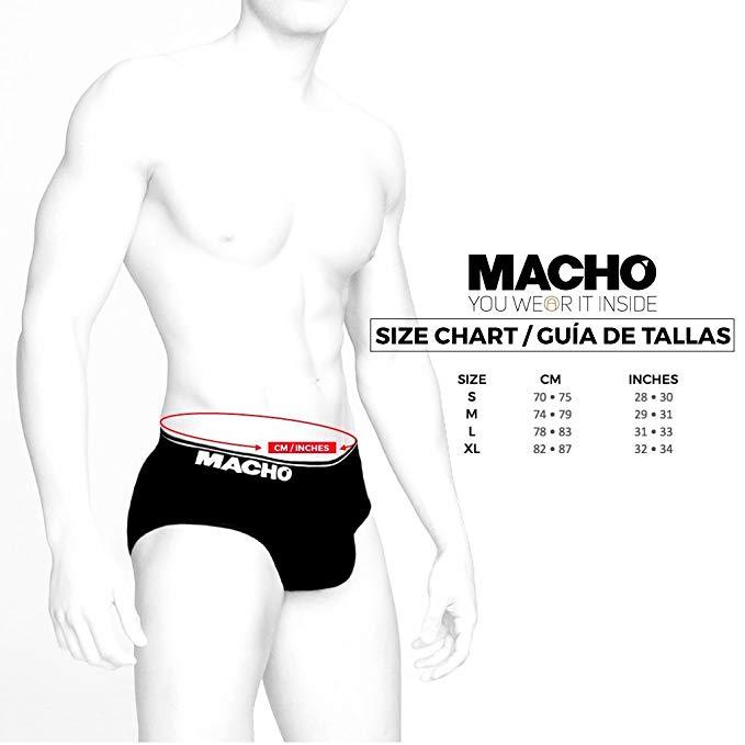 Guía de tallas ropa interior Macho Underwear