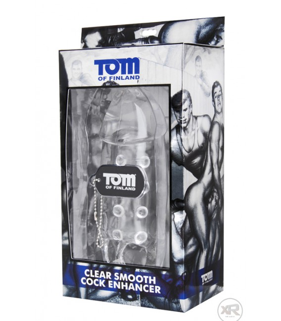 Tom of Finland Funda Extensión de pene lisa transparente