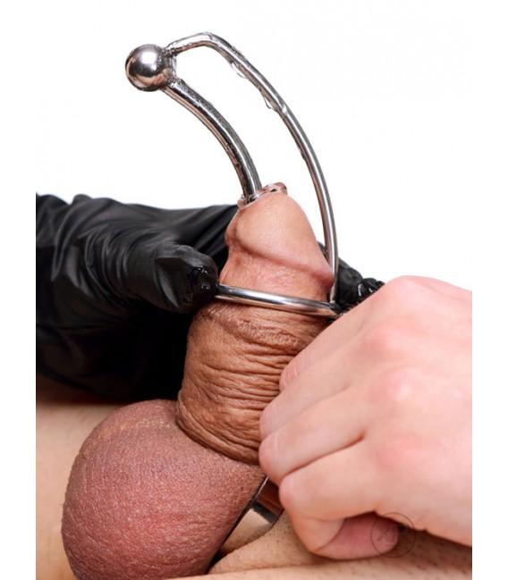 Asylum Cinturón de Castidad con Plug de Uretra de acero Master Series