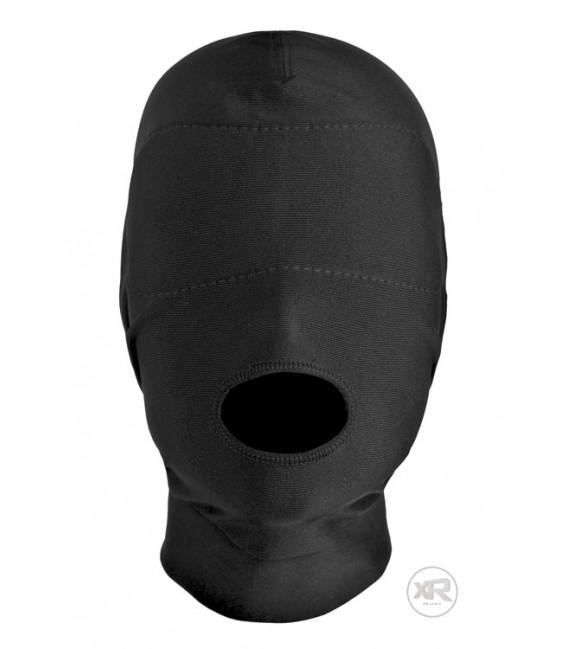 Máscara bondage para Sumiso con abertura en la boca