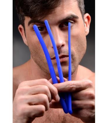 INVASION Trio de Dilatadores de uretra curvados y flexibles