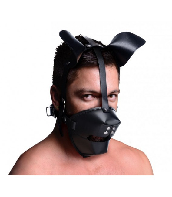 PUP PUPPY Máscara de Perro con Mordaza