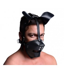 Puppy Play máscara de perro con mordaza en Sex Shop Gay Mastersex