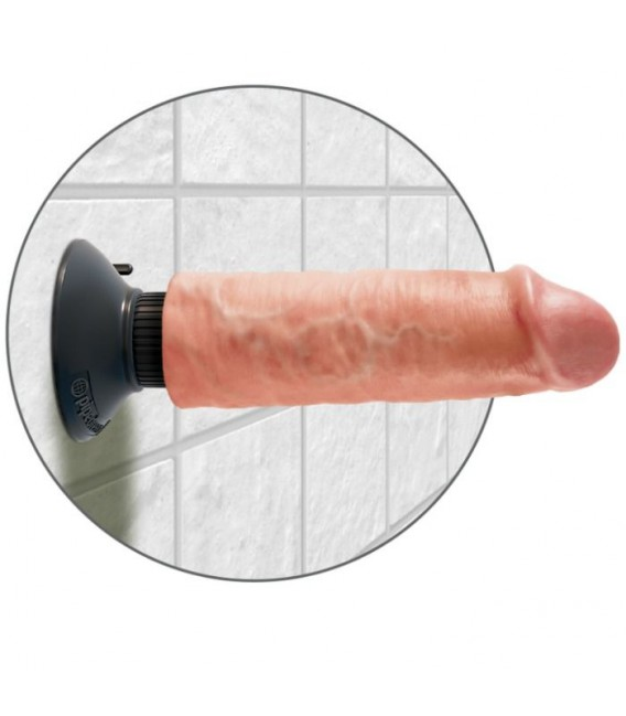 DILDO VIBRADOR KING COCK 15.24 CM NATURAL