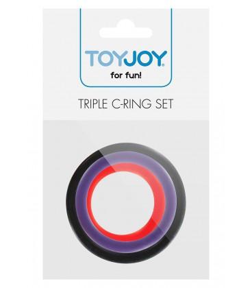Set de cockrings anillas para el pene multicolor de silicona Toyjoy