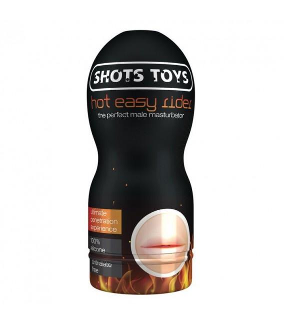 Masturbador Masculino Boca Efecto Calor de Shots Toys