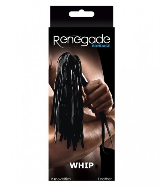 Renegade Látigo Negro BDSM de Ns Novelties