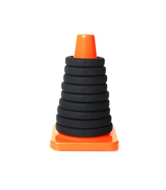Play Zone Kit de 9 Anillos de Pene con Cono Perfect Fit