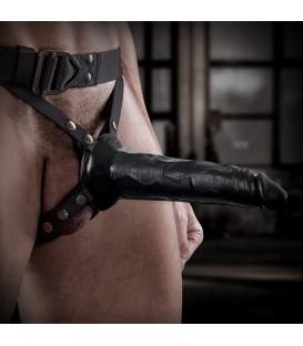 Command Sir Richard's Arnés con dildo hueco 20 cms negro Mastersex