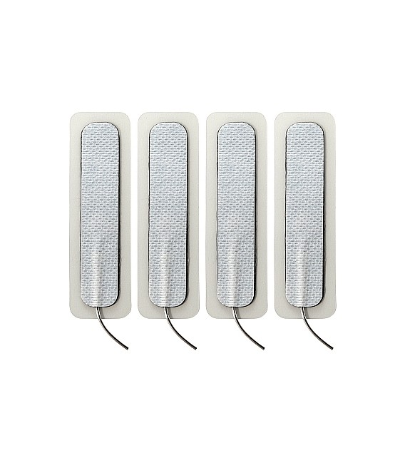 4 X ELECTRAPADS LONG ADHESIVOS - 1.5CM X 7.5CM