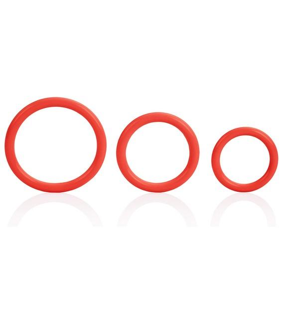 Tri Rings 3 Anillos para el Pene Silicona Calexotics