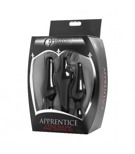 XR Apprentice Set de 3 Plugs para entrenamiento anal Mastersex