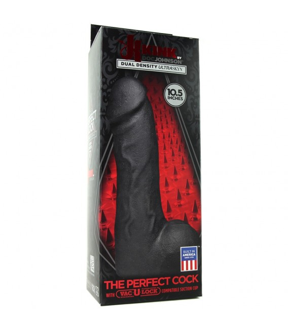 THE PERFECT COCK PENE REALÍSTICO 27 CM NEGRO