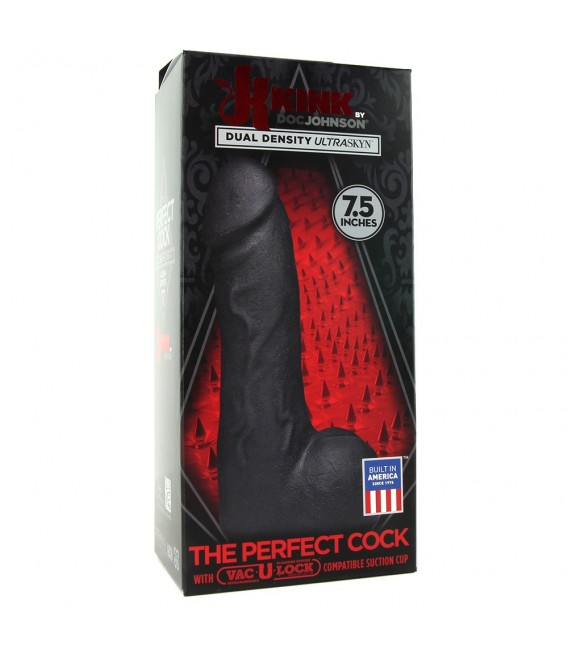 THE PERFECT COCK PENE REALÍSTICO 19 CM NEGRO