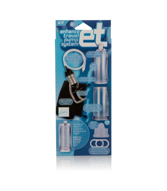 Enhance Travel Pump bomba para alargar el pene transparente desmontable