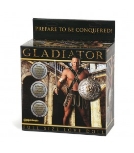 Muñeco Hinchable Gladiador con pene vibrador tamaño real Mastersex
