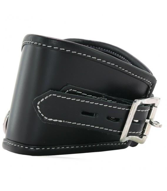 Edge Posture Collar de BDSM ancho con argolla para sumisos