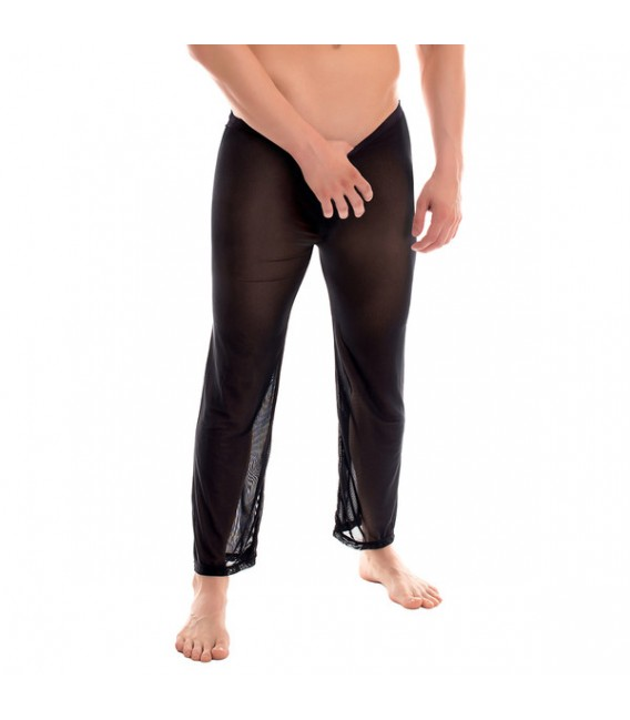 MARCO Pantalones Largos semi transpartentes negros