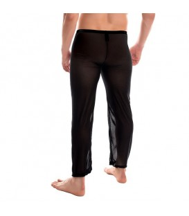 MARCO Pantalones Largos semi transpartentes negros Mastersex