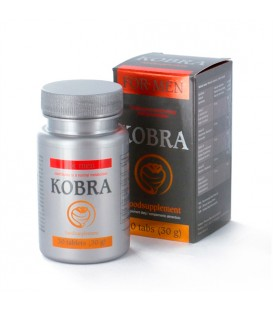 Vigorizante sexual Kobra para hombre 30 cápsulas