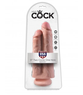 King Cock Dildo doble penetración 25 cm
