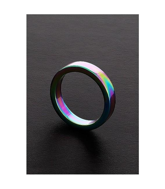 Rainbow cockring de acero pulido