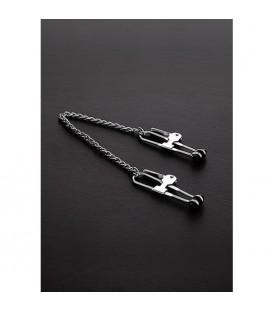 PRESSURE TIT LOCK Pinzas largas para pezones con cadena de acero Mastersex