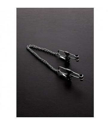 pinzas largas de presión para pezones con cadena