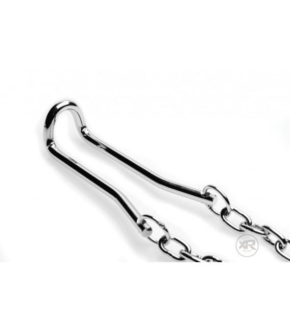 Ballstretcher de acero con cadena y pesos