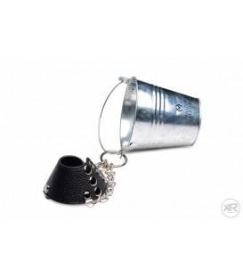 Ballstretcher de cuero ajustable con cubo para pesos CBT