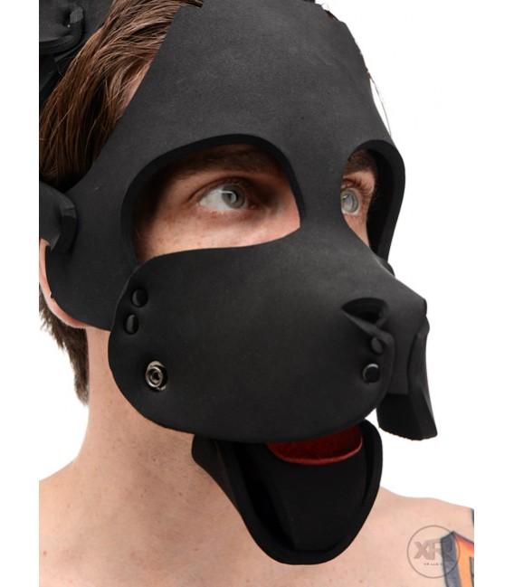 Máscara sumiso de perro de neopreno para juegos Puppy Play
