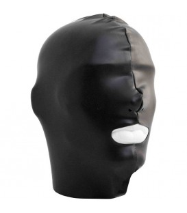 Mister B Capucha Datex con boca abierta color negro Mastersex