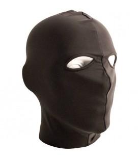 Mister B Máscara de sumiso con abertura en los ojos de lycra