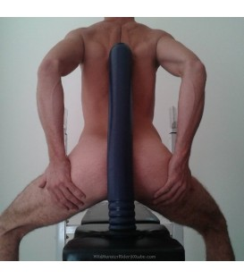 Crackstuffers Depth Trainer Dildo anal 8 cm de vinilo azul