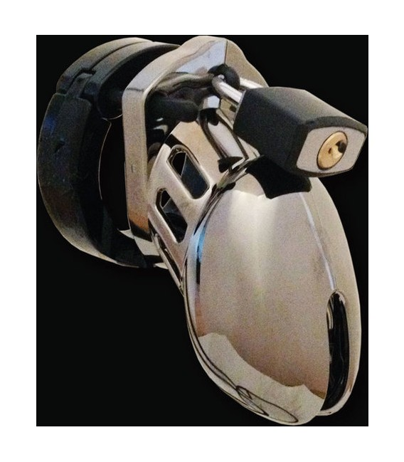Cinturón de castidad CB6000 small chrome de policarbonato