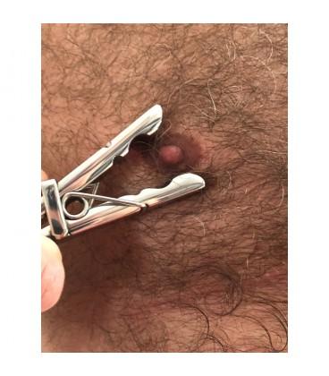 Bros Pin Pinzas de la ropa para pezones de acero Tom of Finland