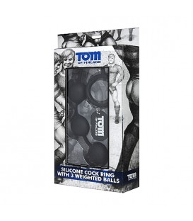 Bolas anales con cockring de silicona de Tom of Finland