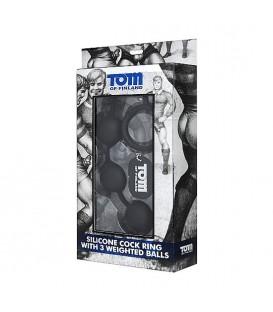 Bolas anales con cockring de silicona de Tom of Finland
