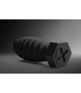 Plug anal Tornillo de Silicona negro