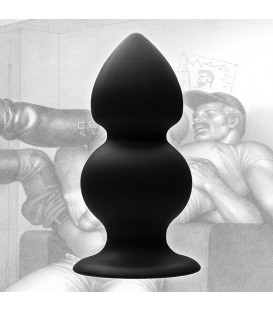 Plug anal de silicona con peso