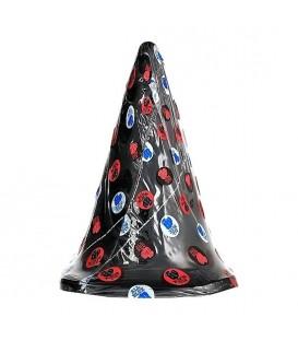 Plug anal gigante en forma de cono All black 30 cm