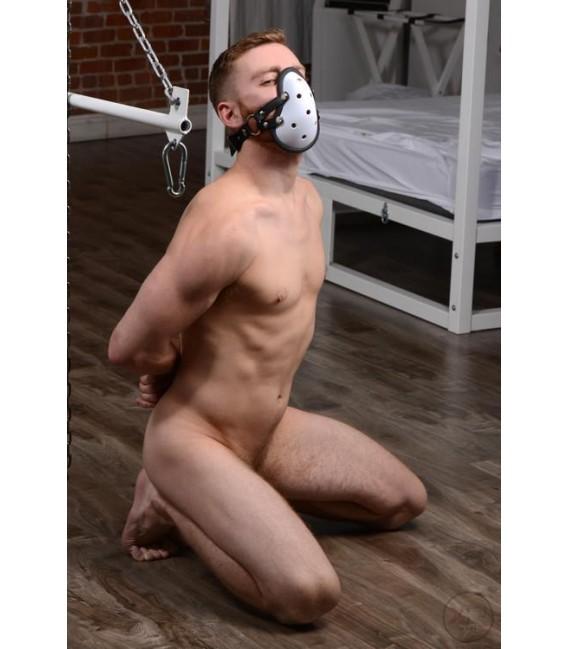 Musk Athletic bozal BDSM copa jockstrap con correas ajustables