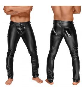 Pantalones Efecto Mojado PVC Noir Handmade