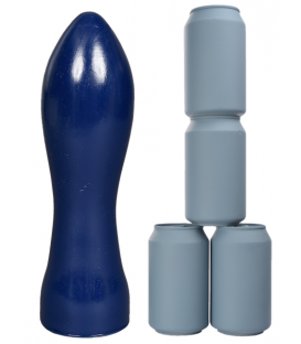 Crackstuffers Extra Large Suppository Dildo anal gigante de vinilo azul