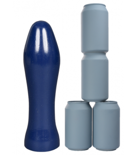 Crackstuffers Suppository Large dildo gigante de vinilo azul