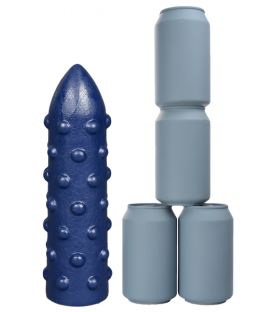 Crackstuffers Large Rough Rider Dildo de Vinilo azul