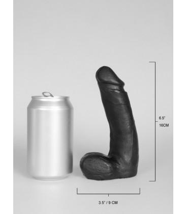 Domestic Partner Cute Recruit dildo realístico negro de vinilo