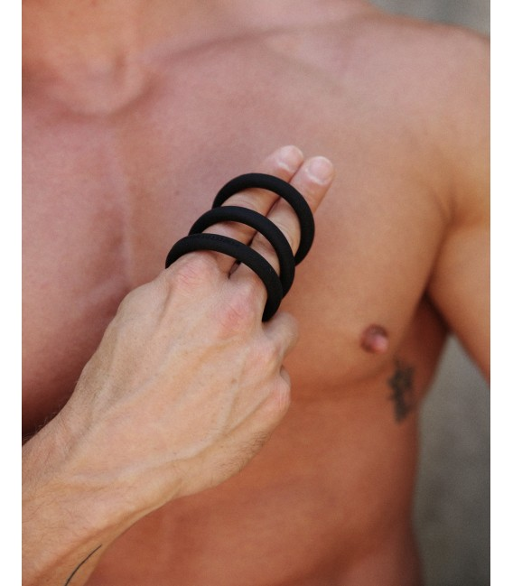 Xact-Fit 3 Anillos Pene Silicona tamaño L Perfect Fit