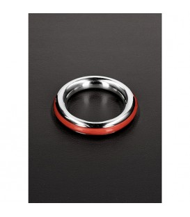 Cockring de acero y silicona rojo Ze Cazzo